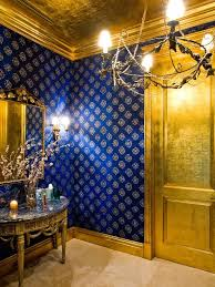 best 25 blue and gold wallpaper ideas