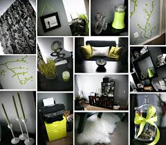 black and white office decor. Lime Green Black And White Damask Office Home Decor DIY Ikea