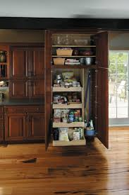 Wood Pantry Cabinet For Kitchen With Laminate Flooring And Kitchen Cabinet  And Drawers Style
