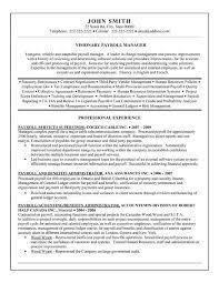 Payroll Skills For Resume 36545 Plgsa Org