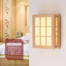 Homee Wall Lamp Simple Modern Wood Wall Lamp Living Room Aisle Balcony Bedroom Bedside Wall Lamp Light Color Optional Wall Lighting