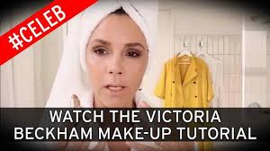 posh spice makeup tutorial. fans point out that victoria beckham is already wearing \u0027full make-up\u0027 as she shares beauty tutorial - mirror online posh spice makeup r