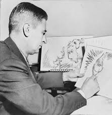 writing style of theodor seuss geisel dr seuss writework ted geisel american writer and cartoonist at work on a drawing of the grinch