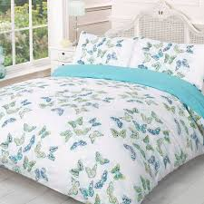 dreamscene blue white stephanie summer double bedding set