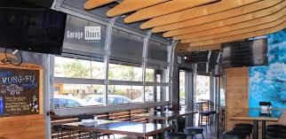 glass garage doors kitchen. The Best Bar U Restaurant Garage Unlimited Gdu For Commercial Door Ideas And Switch Style Glass Doors Kitchen
