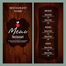 Design A Menu Free Vintage Restaurant Menu Templates Free Vector In Adobe