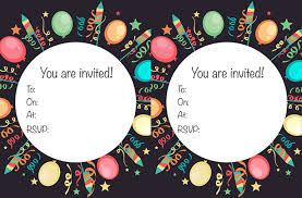 Free Printable Childrens Birthday Party Invitations