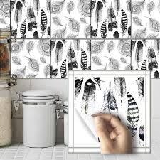 Kopen Goedkoop 10 Pcs Thuis Badkamer Keuken Decor Zwart Wit Veer