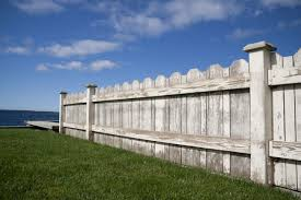 old worn white fence