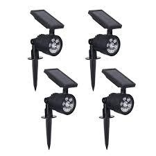 Westinghouse Solar Security Light 4 Pk Westinghouse Solar 3 7 Volt Black Led Spotlight With Color Changing Light 4 Pack