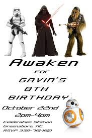 star wars template star wars birthday template postermywall