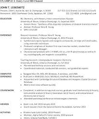 Student Cv Examples Chemistry Student Resume Examples Entry Level Chemist Resumes Ta T A