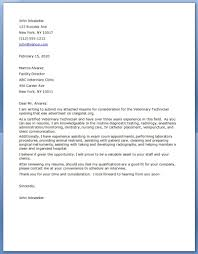 Veterinary Nurse Cover Letter Example Cover Letters And Cv