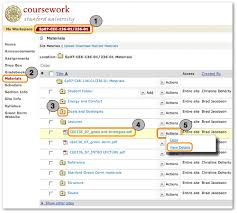 access course materials coursework help resources click the desired course site tab in the site navigation bar at the top of the page