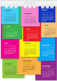 2015 Calendar Page Colorful Dairy Page Spiral Binding 2015 Calendar Vector Download