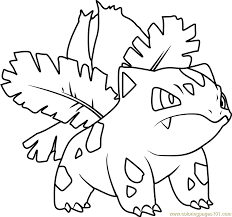 Small Picture Ivysaur Pokemon Coloring Page Free Pokmon Coloring Pages