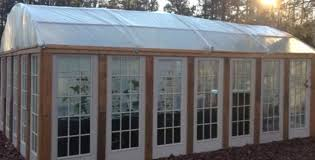 diy hoop house built with recycled doors greenhouse for