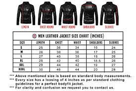 Leather Jacket Size Chart Scharf Born Thunder Mens Body Con Leather Jacket Jam13