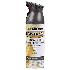 Rust-Oleum Universal Black Metallic Enamel Spray Paint (Actual Net  Contents: 11-
