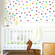 fabric wall decals for nursery mini 2 rainbow polka dot fabric wall decals  wall dressed up