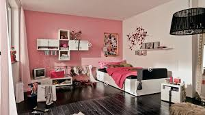 Fabulous White Color Small Home Bedroom Small Design For Teenage Girls With Pale Pink Wall Paint Color And Black Laminated Floor White Furniture Fabulous Home I