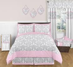 pink gray and white elizabeth childrens kids bedding 3pc regarding comforter set inspirations 9