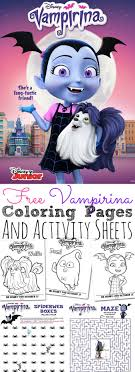 Wolfie from disney vampirina coloring. Free Vampirina Coloring Pages And Activity Sheets To Download And Print