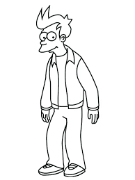 futurama coloring pages. Brilliant Pages Futurama Coloring Pages  For Kids Library   With Futurama Coloring Pages A