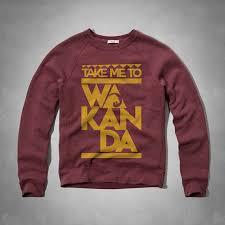 new men clothing afrlives take me to wakanda black panther crewneck sweatshirt