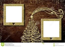 Christmas Photo Frames For Kids Christmas Two Photo Frames Card Stock Photo Image Of