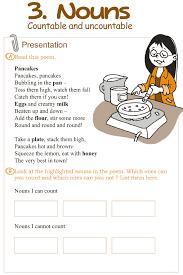 Good Grammar » Grade 3 Grammar Lesson 3 Nouns – countable and ...