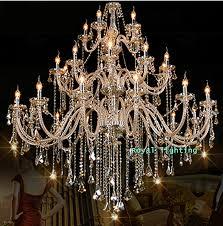 stunning big chandelier lights bohemian 32 42 pcs cognac chandelier crystal lighting for church