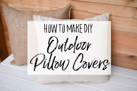 diy outdoor pillow shams with drop cloth and burlap our handcrafted life