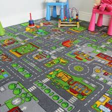 200x200 square street kids village town rug city car roads fun play mats rugs uk for