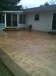 Stamped Concrete Kitchen Floor Stamped Concrete Patios In Columbus Oh Artistic Concrete Ohio