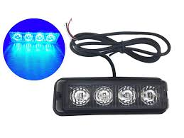 Led Caution Lights Taswk 4 Led Bulb Emergency Strobe Lights For Trucks Cars Vehicles Warning Caution Lights Blue