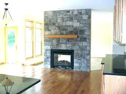 double sided gas fireplace corner