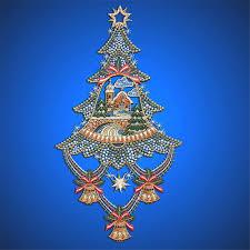 Gardinen Welt Online Shop Weihnachts Fensterbild Baum Mit