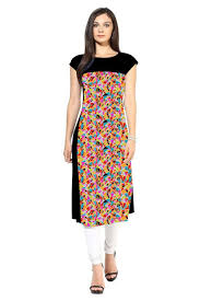 Designer Kurtis Wholesale Online Shopping Elegant Multi And Black Kurti Wholesale Sellers And