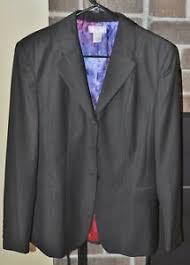 Details About Wellington Show Coat Ladies 6s Black With Pinstripe