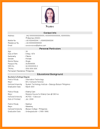 Pretty Student Resume Sample Format Philippines Photos Example
