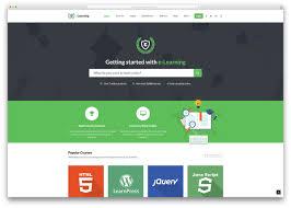 Online Quiz Templates wpelearningflatdesignwebsitetemplate Theme Pinterest Web 38