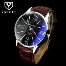 watch men watch top brand luxury blue glass watches waterproof yazole watch men watch top brand luxury blue glass watches waterproof leather fashion business watches hour relogio masculino