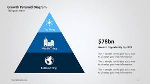 Pyramid Ppt Growth Pyramid Powerpoint Diagram Slide Ocean