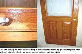 painting fiberglass doors gel stains on wood grained entry effective or not door stain fading fiberglass doors