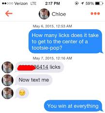 pickup lines and rejection on tinder