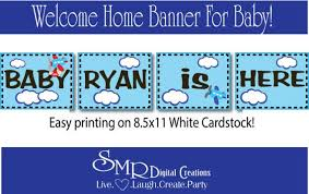 Welcome Home Baby Boy Banner Welcome Home Baby Boy Banner Diy Diy Ideas Baby Boy
