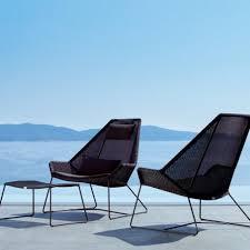 breeze highback lounge chair incl black sunbrella cushions