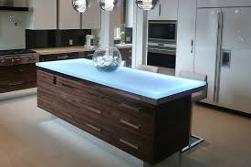 view in gallery stunning kitchen island that steals the show with its led lighting