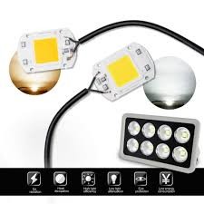 Energy Smart Flood Lights Us 1 11 39 Off Vacamm Cob Highly Power Flood Light Ac 220v 20w 30w 50w Diy For Projectors Led Spotlight Outdoor Brightly Street Chip Lamp In